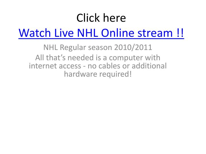 Click here watch live nhl online stream