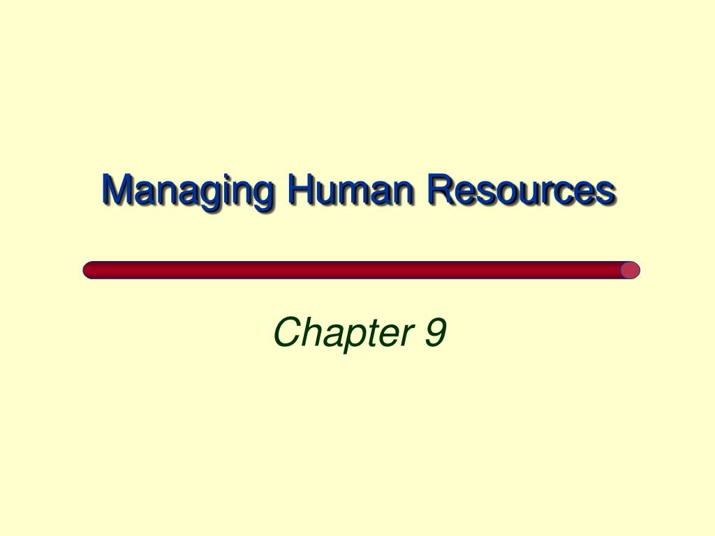 managing human resources l.