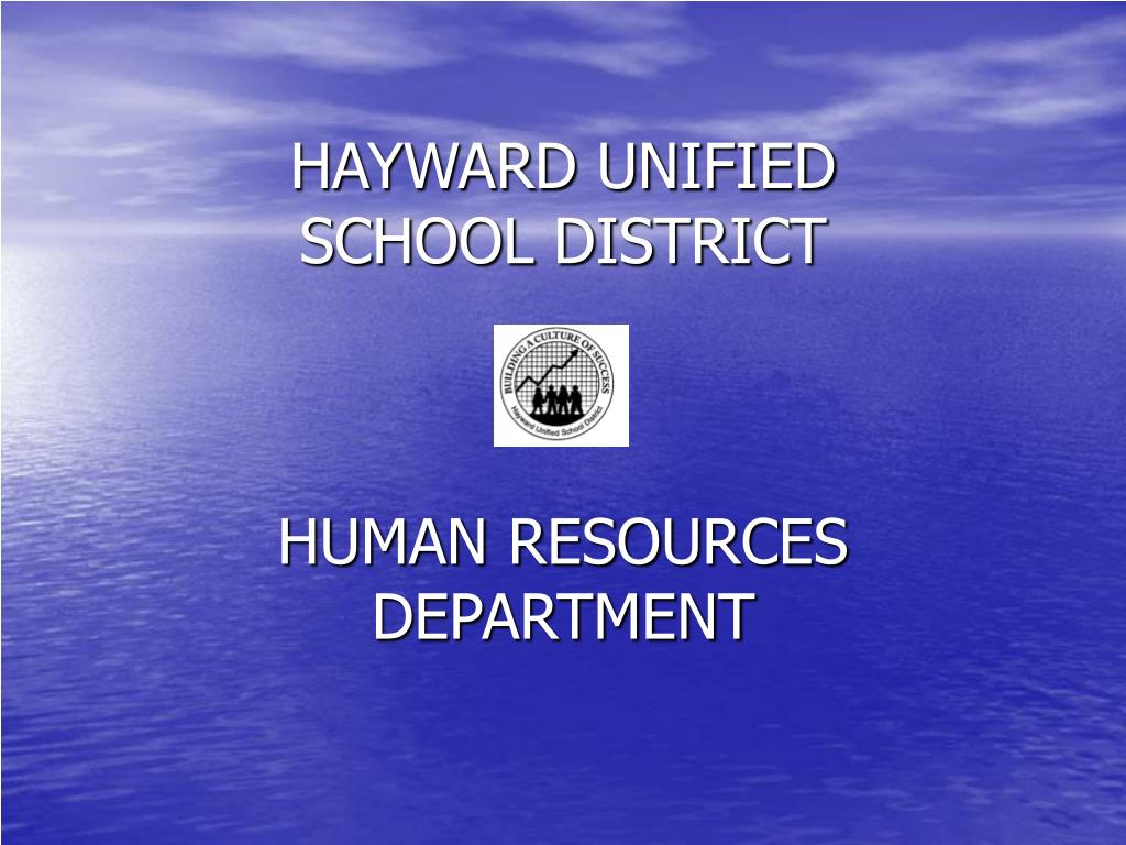 hayward unified school district human resources department l.
