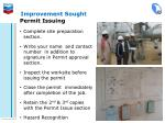 improvement sought
