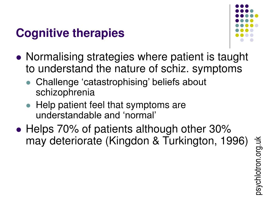 Cognitive therapies