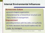 internal environmental influences12