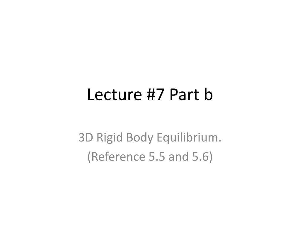 3d Rigid Body Equilibrium Examples Celbridge Cabs Statics Ebook Free Diagrams Lecture 7 Part B L