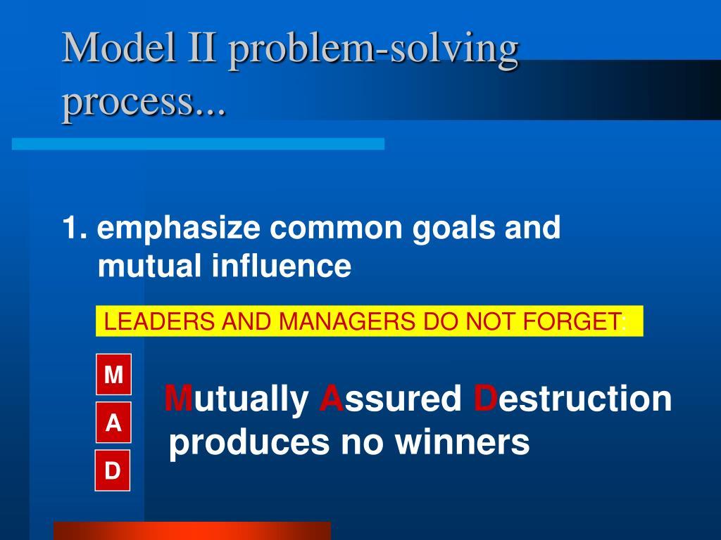 Model II problem-solving process...