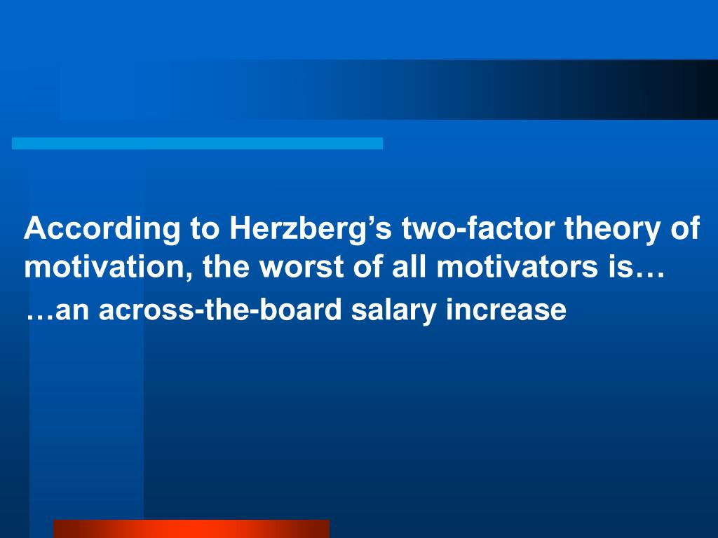 According to Herzberg's two-factor theory of motivation, the worst of all motivators is…