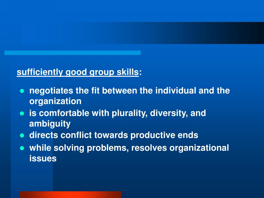 negotiates the fit between the individual and the organization