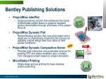 bentley publishing solutions