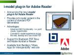 i model plug in for adobe reader