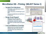 microstation v8i printing select series 3