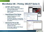 microstation v8i printing select series 322