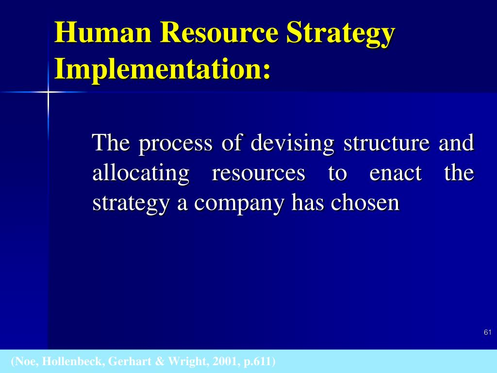 Human Resource Strategy Implementation: