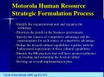 motorola human resource strategic formulation process