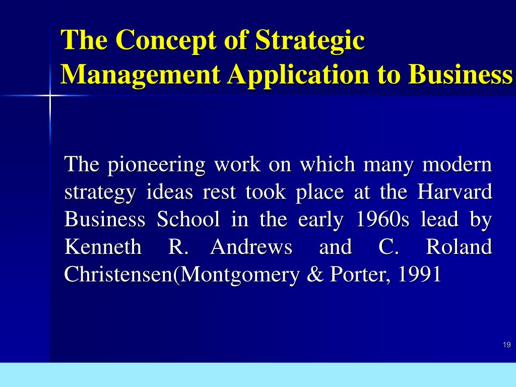 The Concept of Strategic