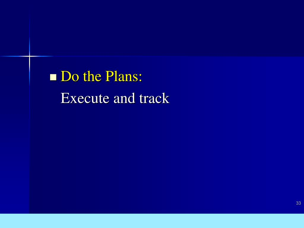 Do the Plans: