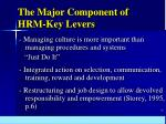 the major component of hrm key levers