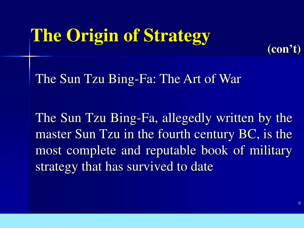 The Origin of Strategy