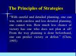 the principles of strategies