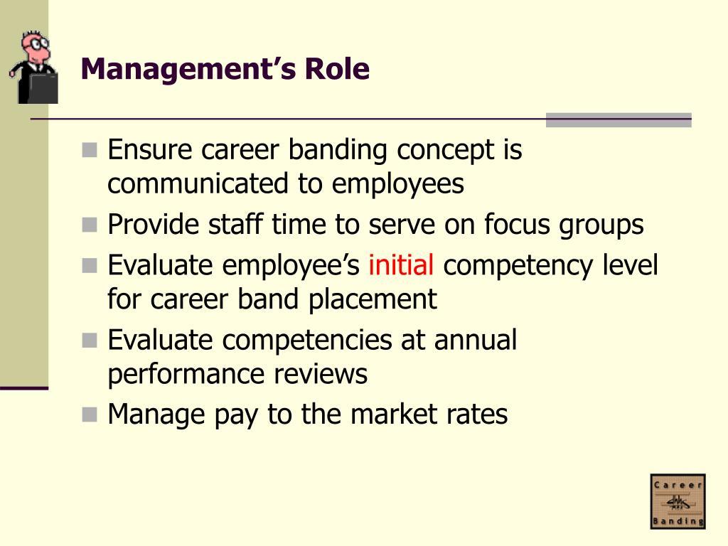 Management's Role
