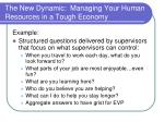 the new dynamic managing your human resources in a tough economy9