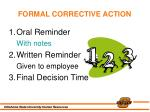 formal corrective action