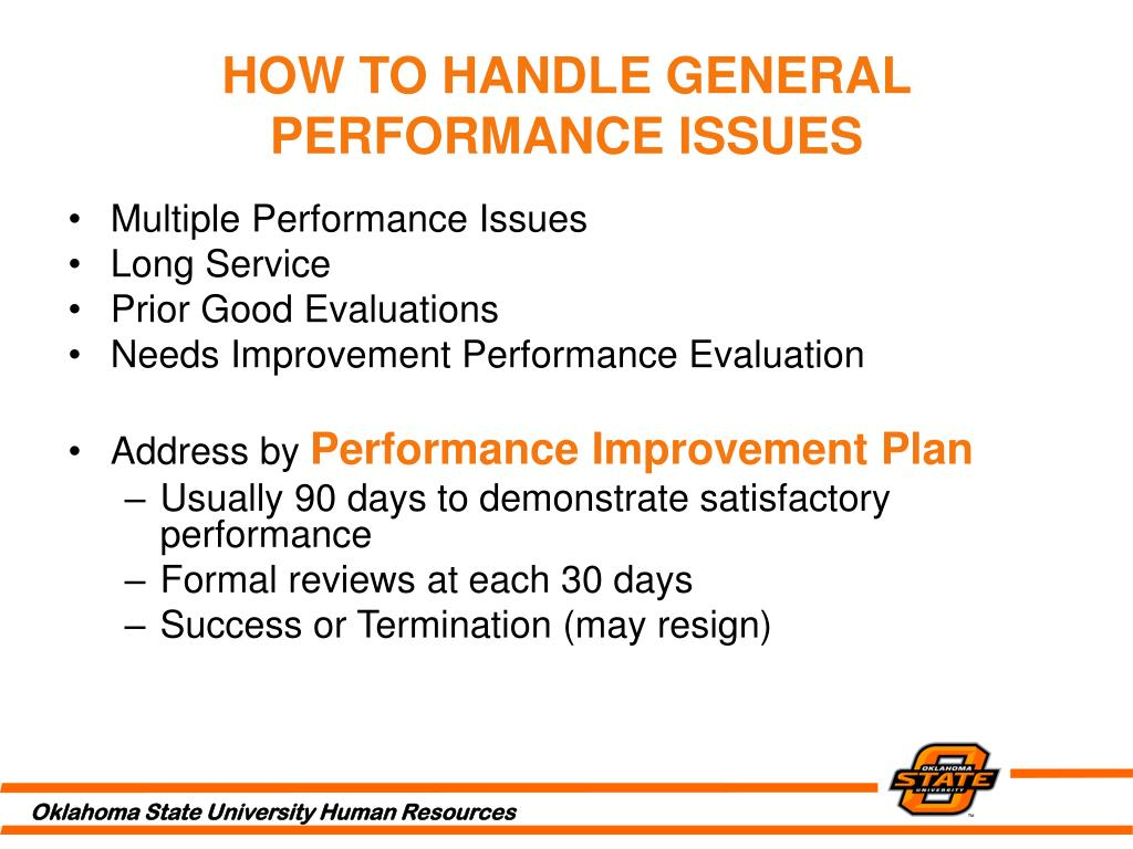 HOW TO HANDLE GENERAL PERFORMANCE ISSUES