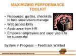 maximizing performance toolkit
