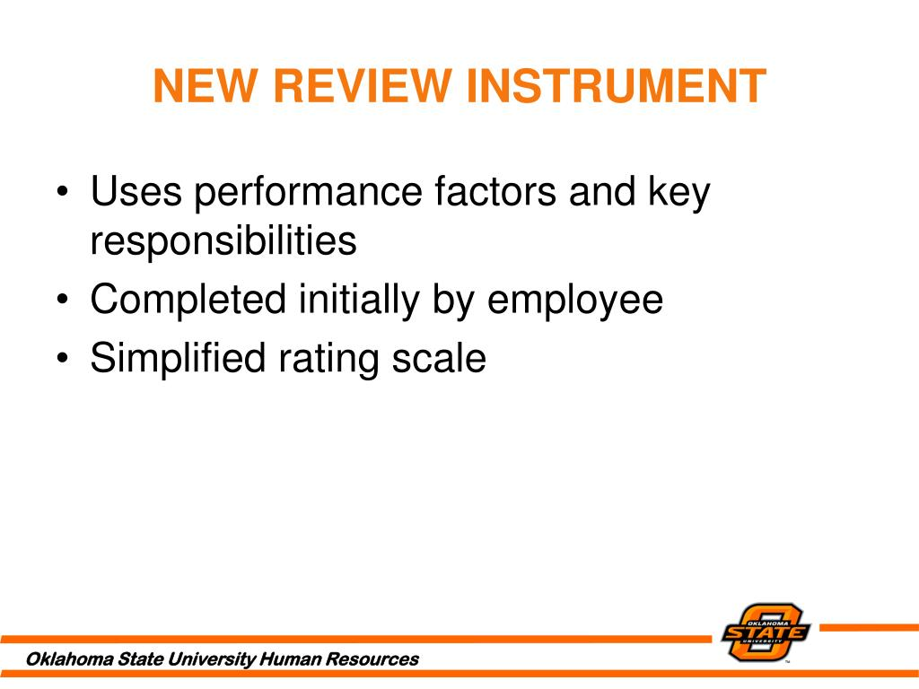 NEW REVIEW INSTRUMENT