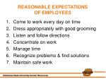 reasonable expectations of employees