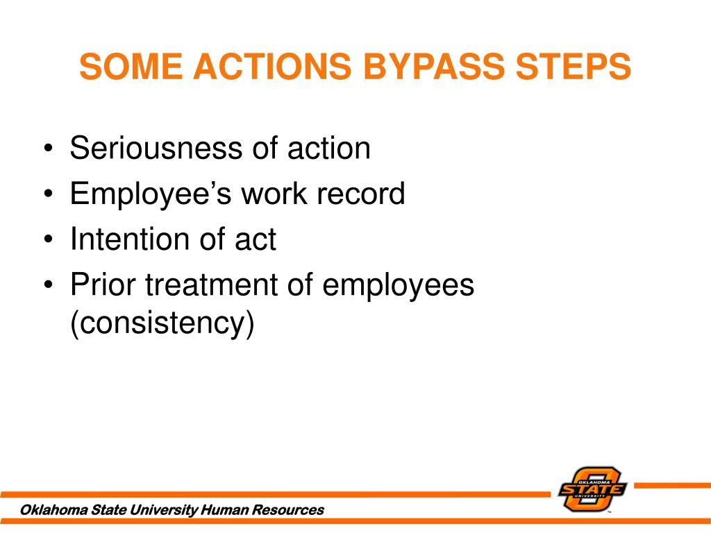 SOME ACTIONS BYPASS STEPS