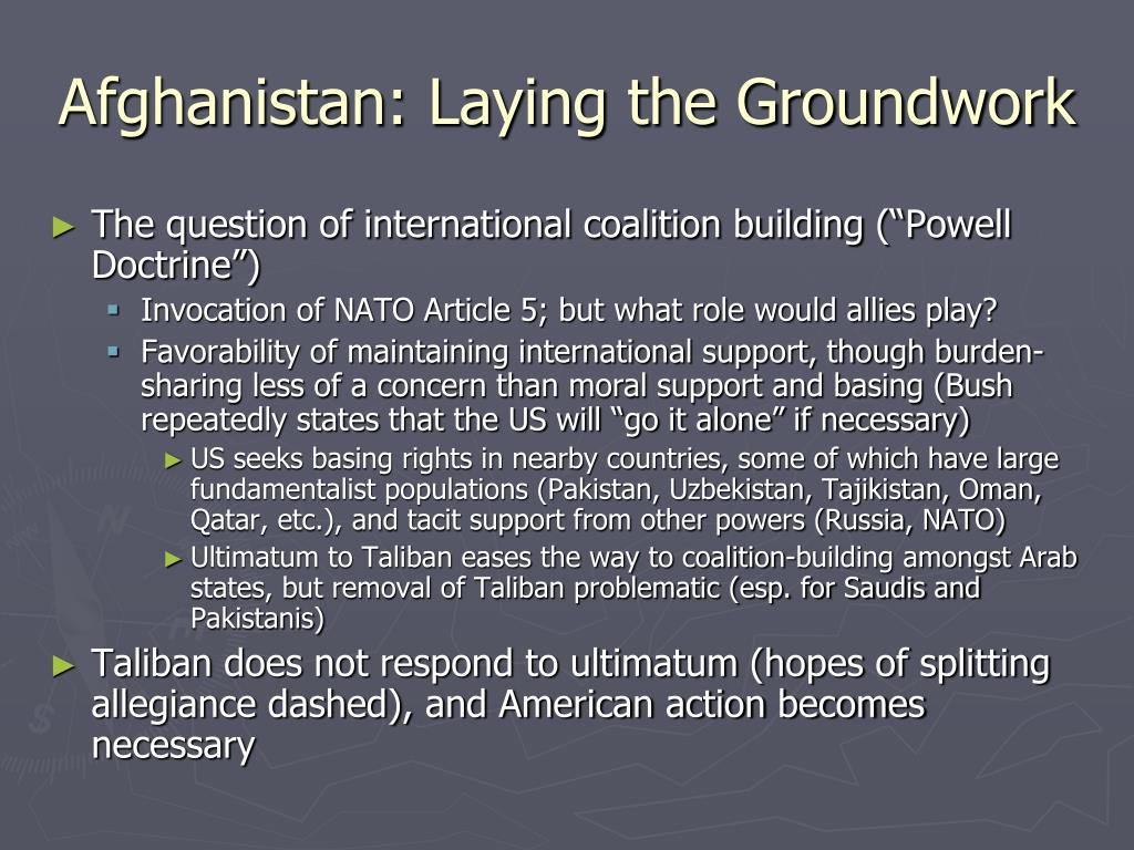 Afghanistan: Laying the Groundwork