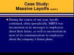 case study massive layoffs cont17