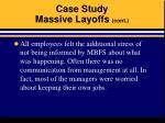 case study massive layoffs cont19
