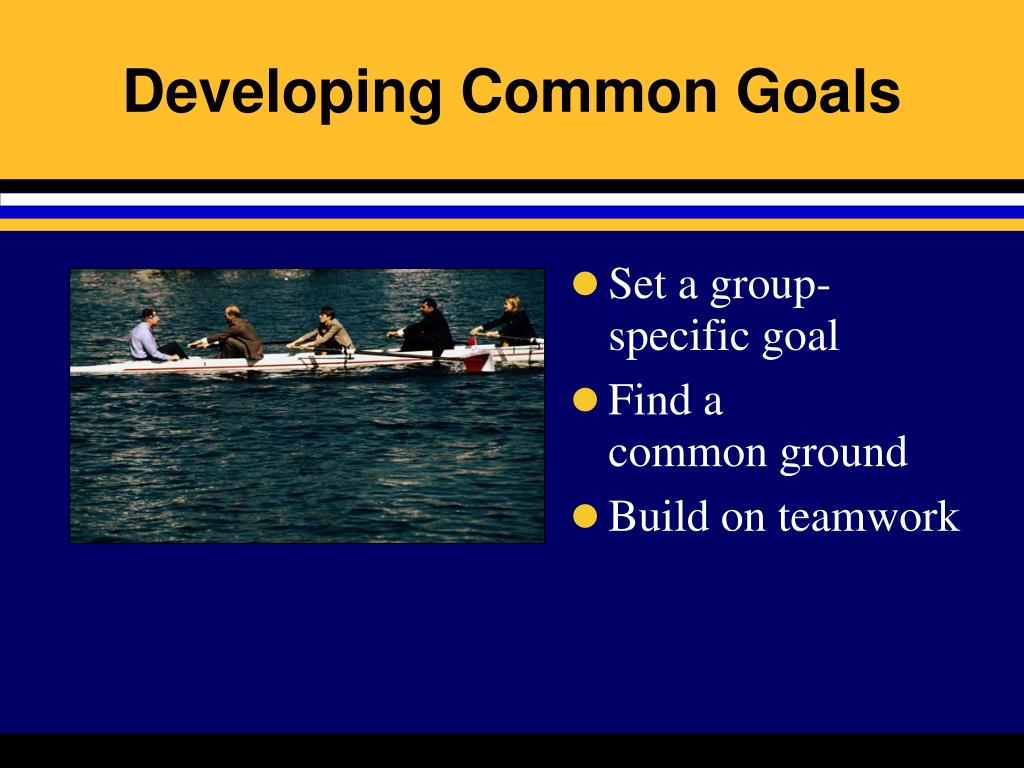 Developing Common Goals