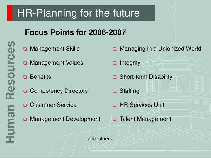Hr planning for the future