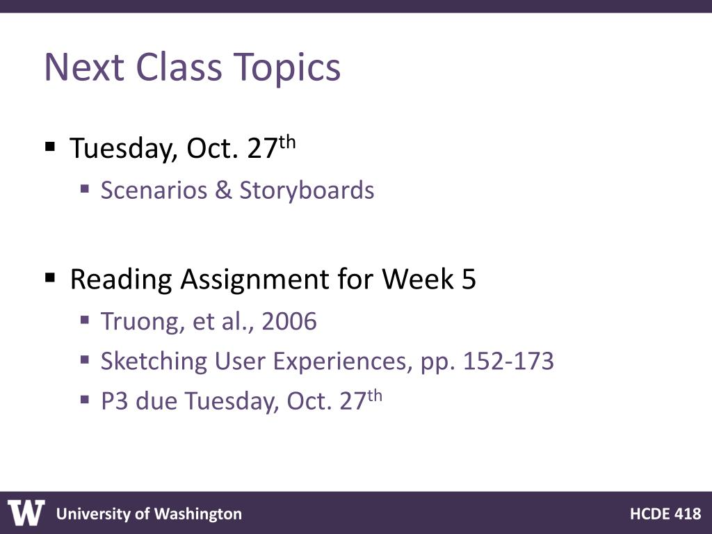 Next Class Topics