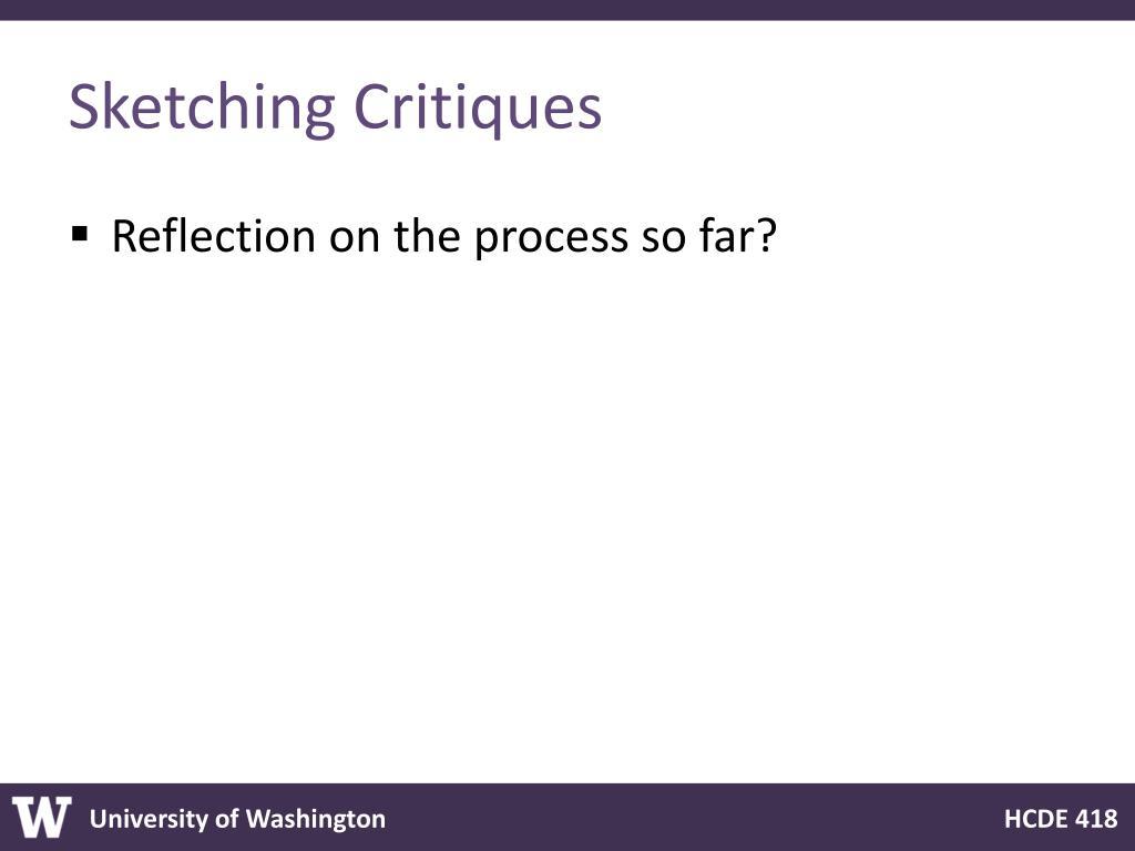 Sketching Critiques