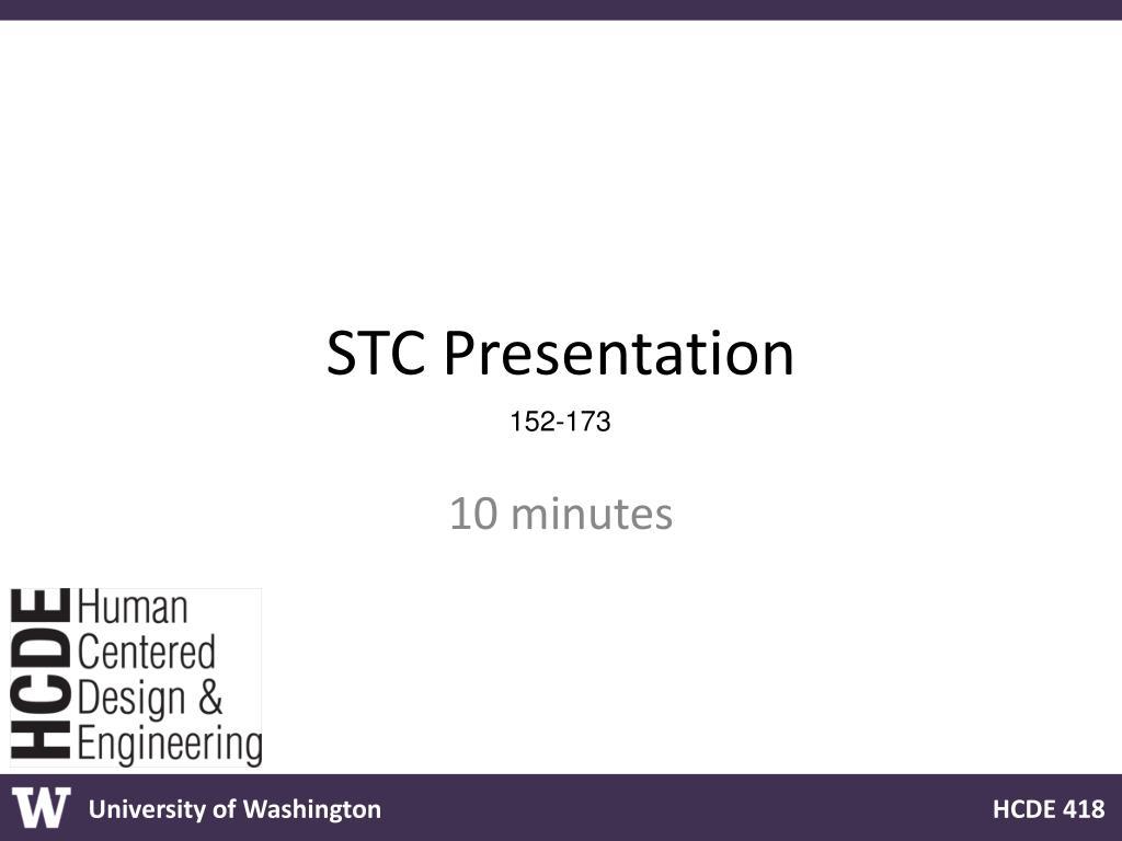 STC Presentation