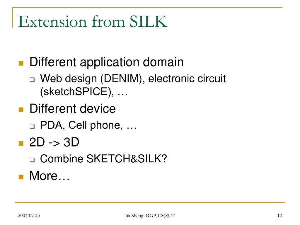 Extension from SILK