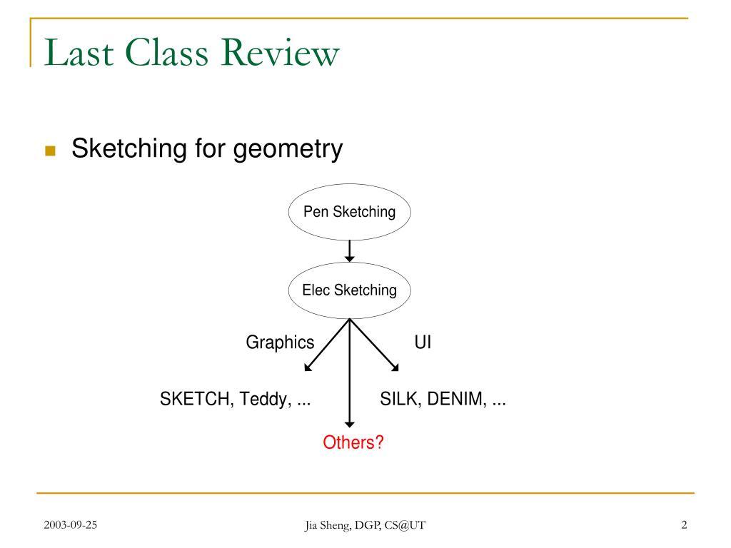 Last Class Review
