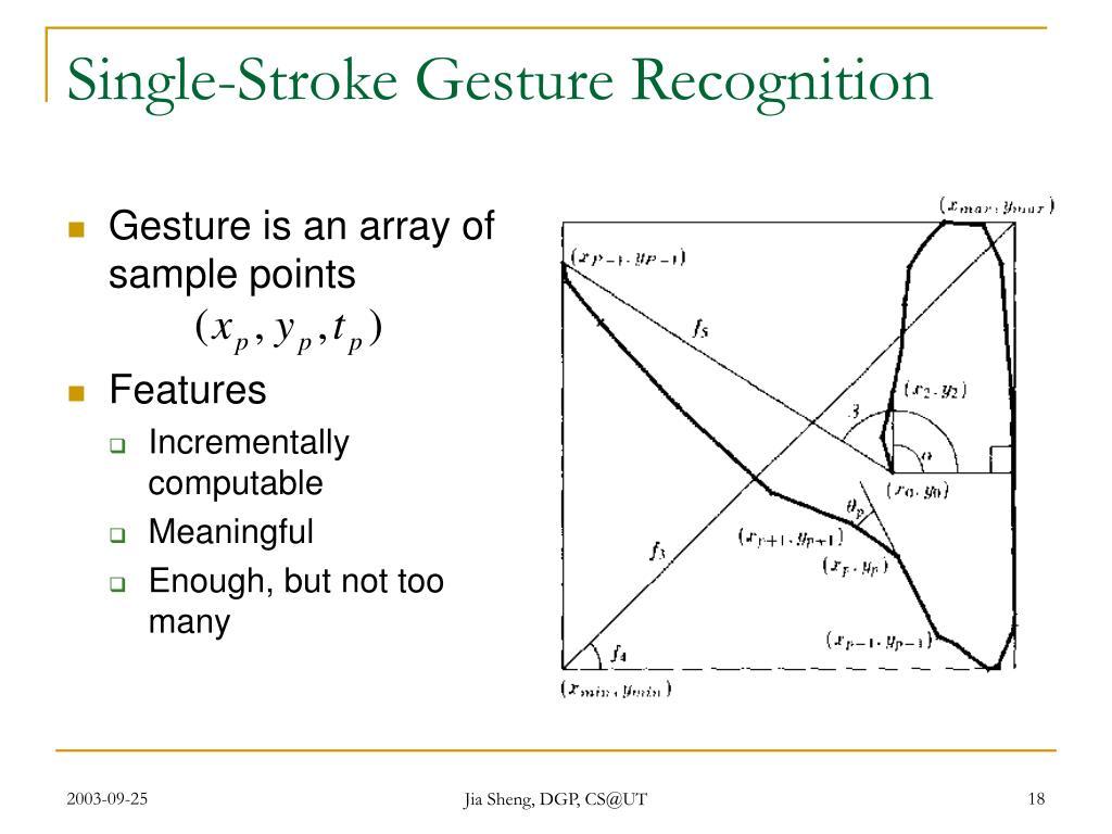 Single-Stroke Gesture Recognition