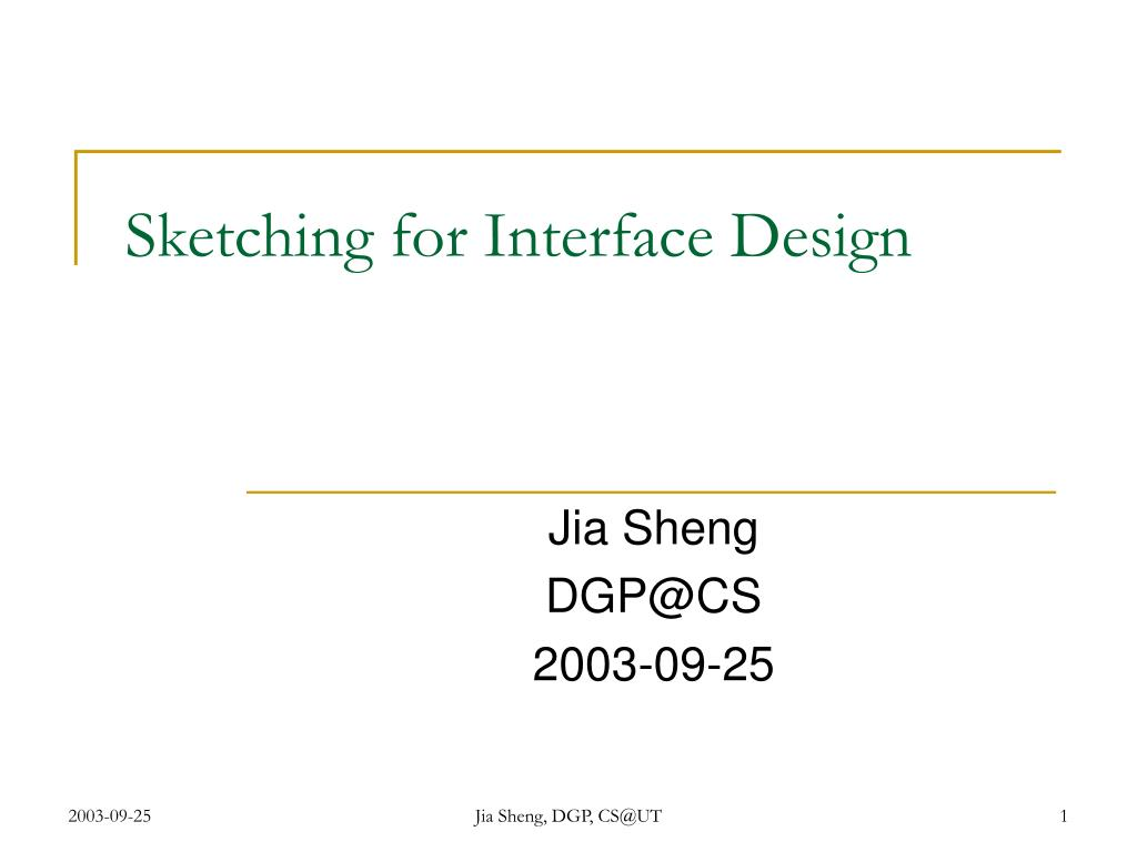 sketching for interface design l.