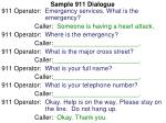 sample 911 dialogue