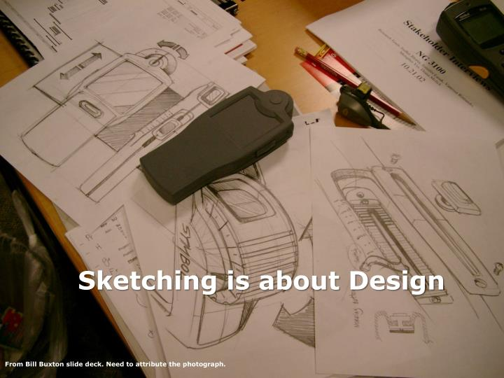 Sketching is about design
