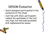denim evaluation