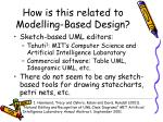 how is this related to modelling based design