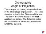 orthographic angle of projection