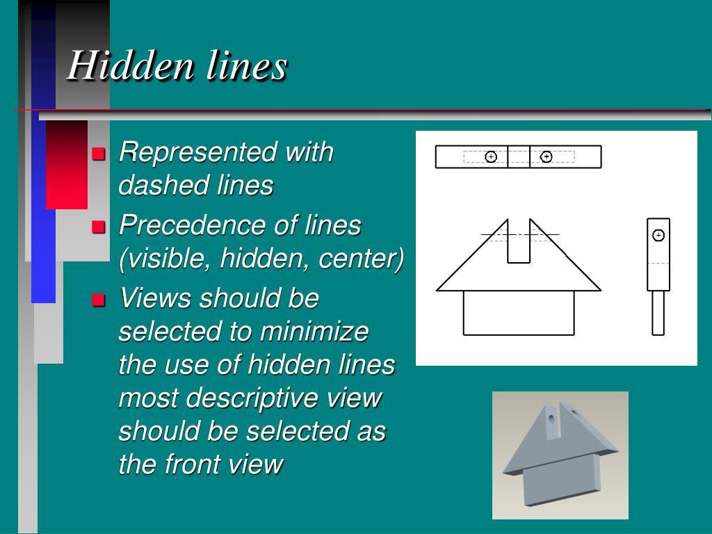 Hidden lines