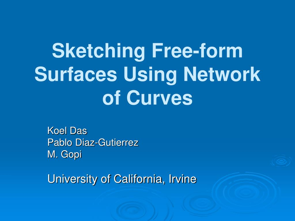 sketching free form surfaces using network of curves l.