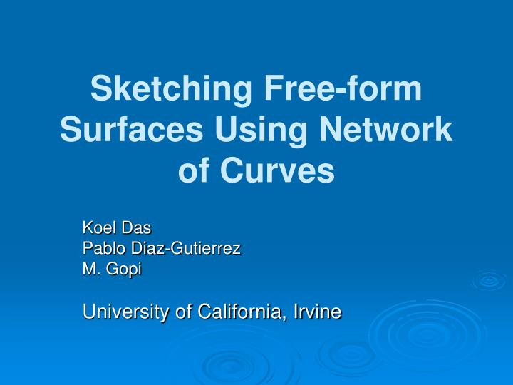 Sketching free form surfaces using network of curves