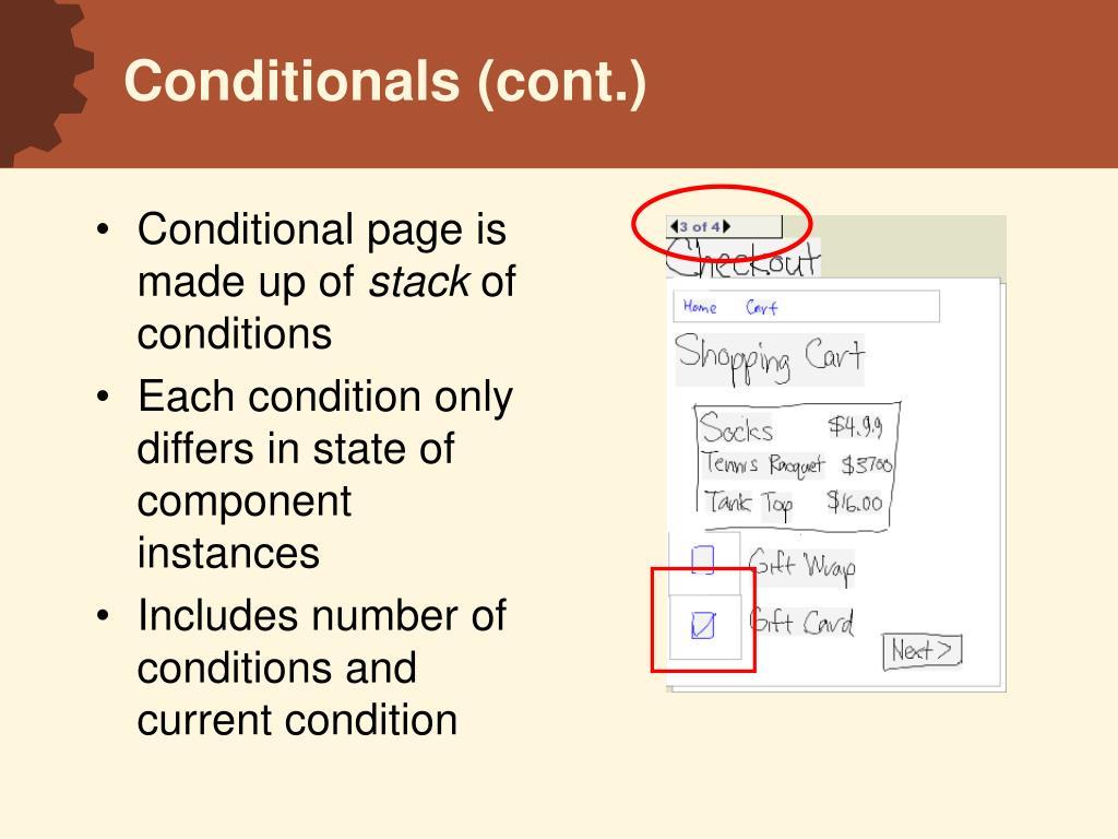 Conditionals (cont.)